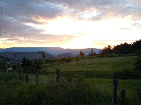 Dawn breaking over Silver Star Provincial Park